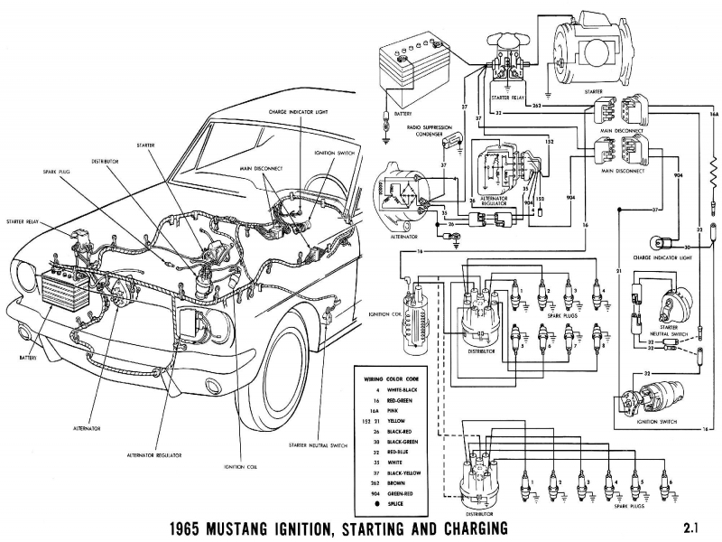 1965 ford mustang alternator wiring diagram