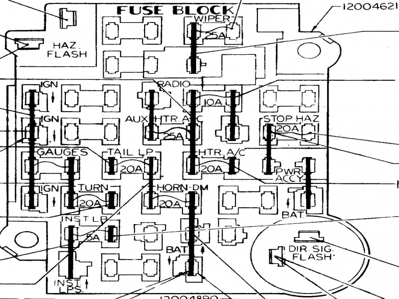 1979 chevy k10 fuse box  1979  wiring diagrams instruction