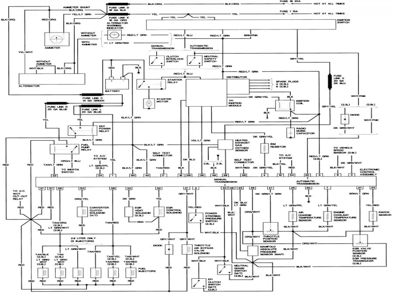 1987 Ford Ranger Alternator Wiring Diagram : Ford ranger radio wiring diagram gooddy forums