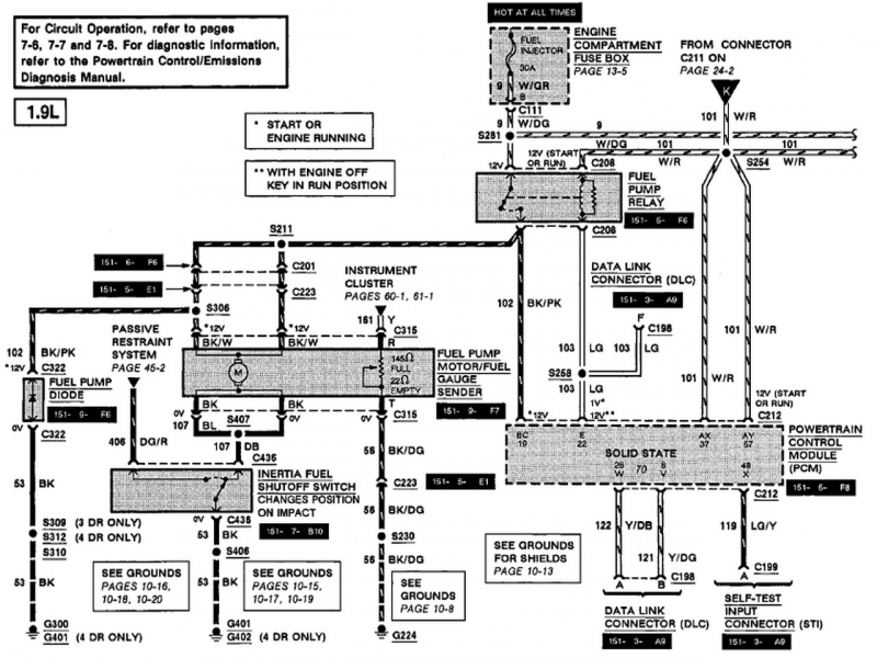 1997 Ford Escort Alternator Wiring Diagram : Ford escort wiring diagram gooddy forums