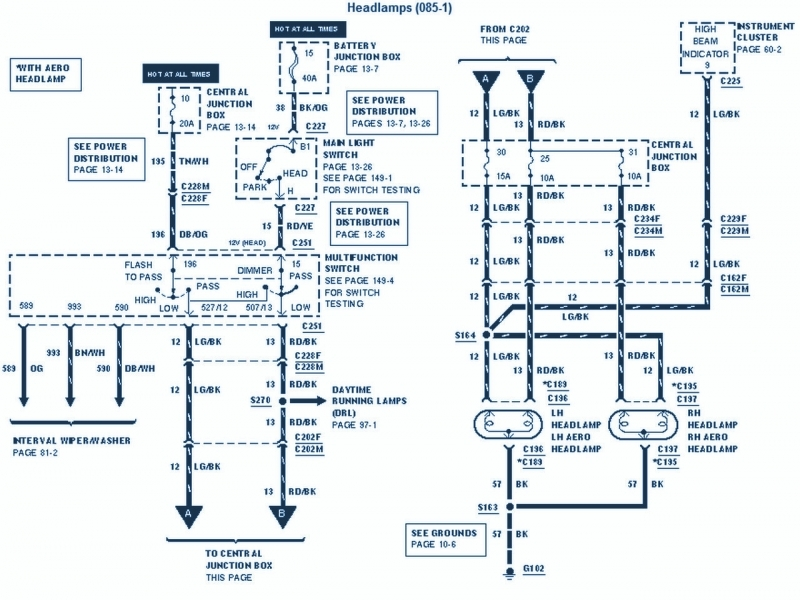1997 E350 Wiring Diagram  1997  Wiring Diagrams Instruction