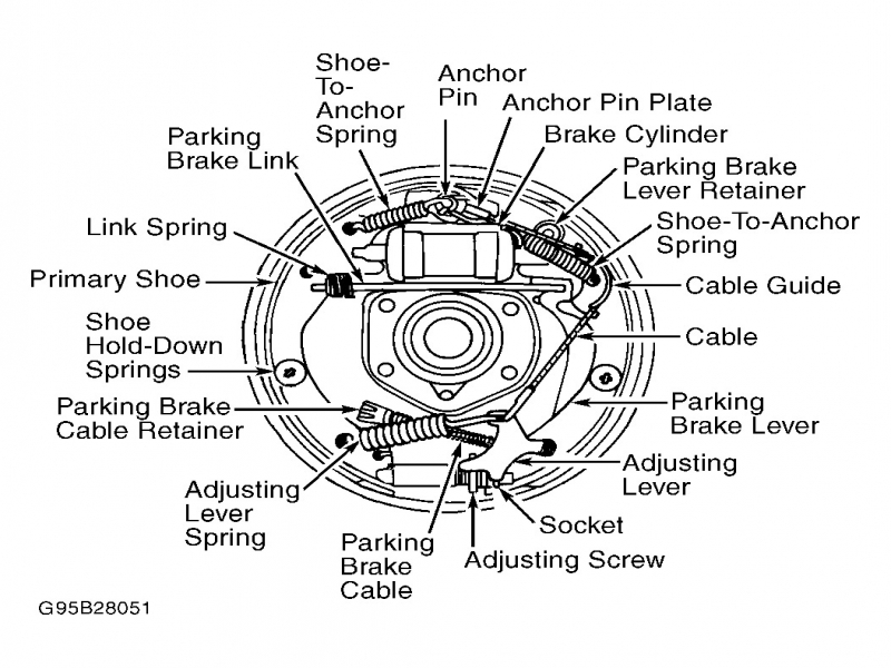 1998 ford f150 rear drum ke diagram