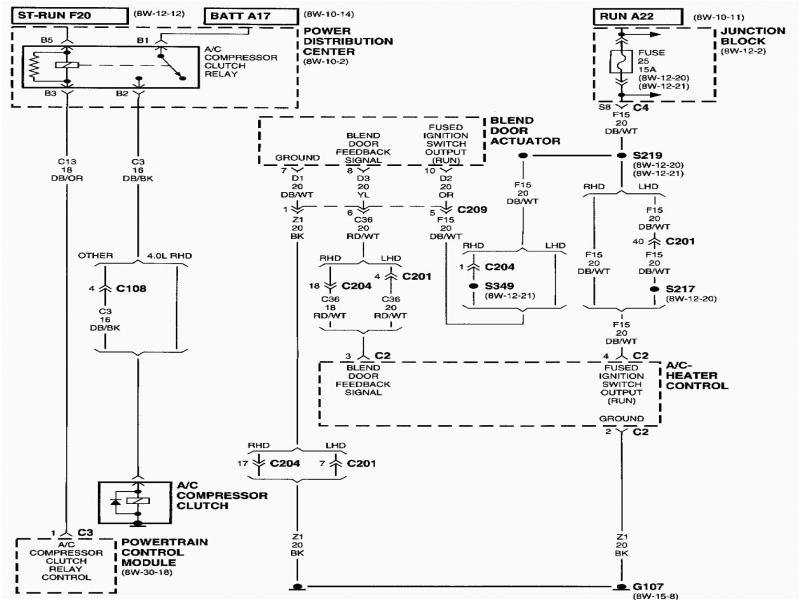 Wiring Diagram Of Aircon : Jeep cherokee i need a air con wiring diagram best