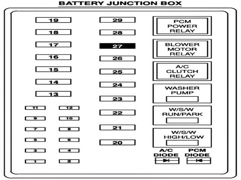 99 Ford F 250 Power Distribution Box Diagram
