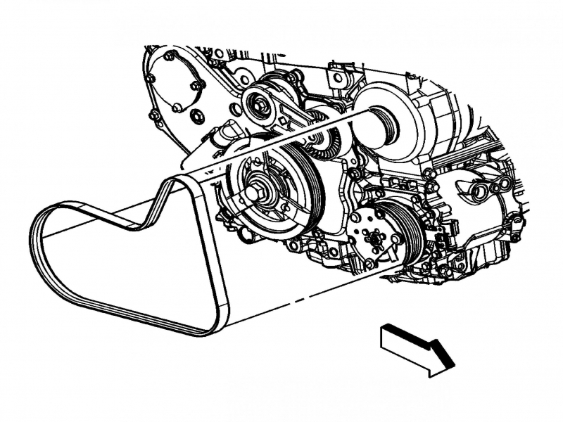 2007 chevy cobalt serpentine belt diagram