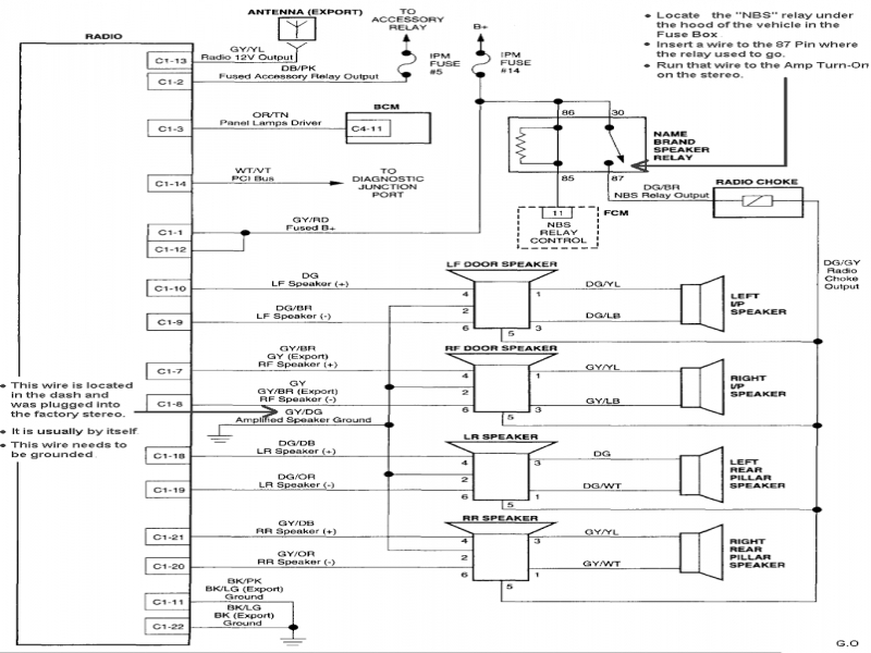 2006 chrysler pacifica radio wiring diagram on images