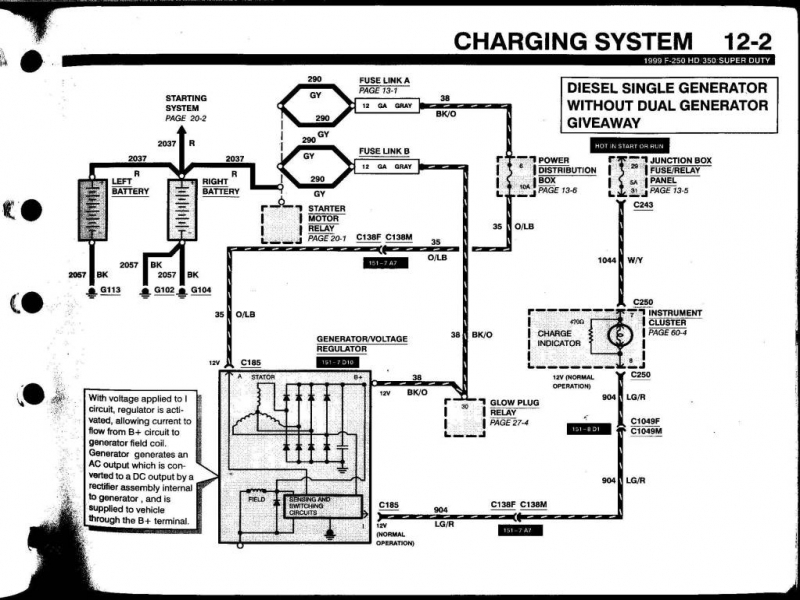Ford F150 Alternator Wiring Diagram : Ford focus alternator wiring diagram in forums