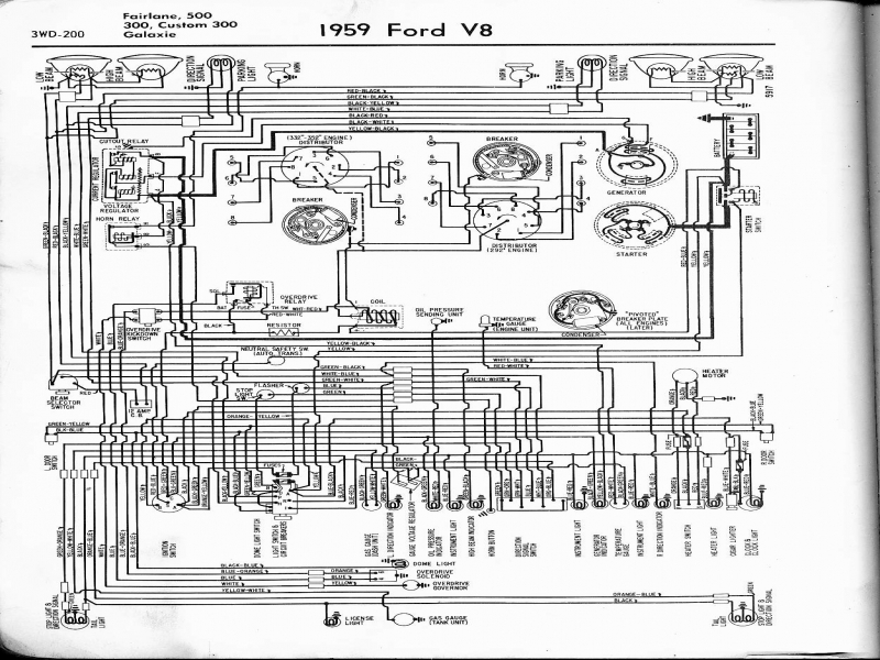 1959 ford regulator wiring 1959 ford galaxie wiring diagram