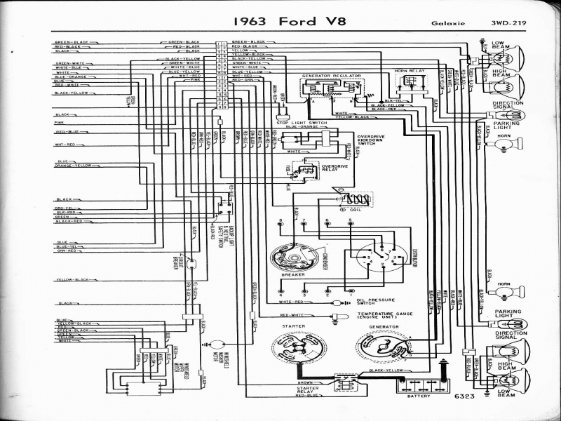 charging system wiring diagram 1963 ford galexie