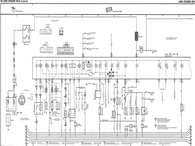 Diagram  1992 Toyota Land Cruiser Wiring Diagram Original