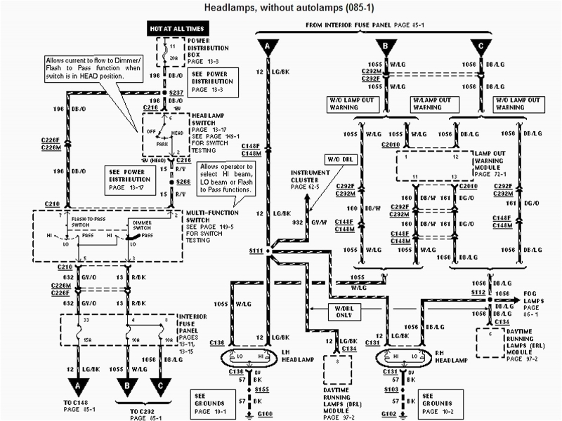 2001 Dodge Ram Headlight Wiring Diagram