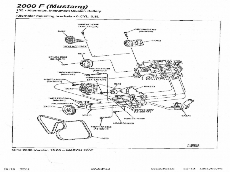 a  c delete belt route 99-04 3 8 - ford mustang forum