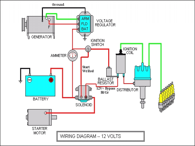 wiring diagram for farmall 706 tractor 6 volt battery