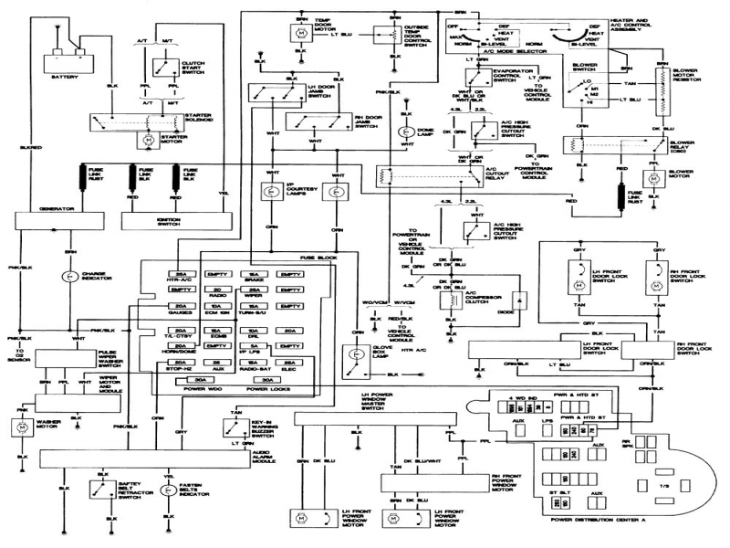 awesome 1993 chevy s10 wiring diagram pictures