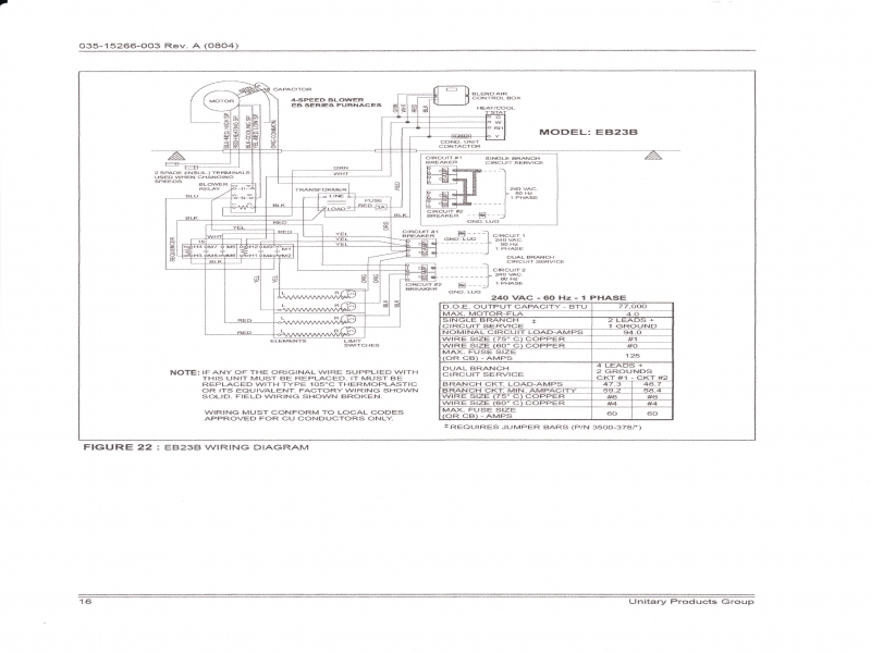 coleman evcon wiring diagram  blower runs with no heat