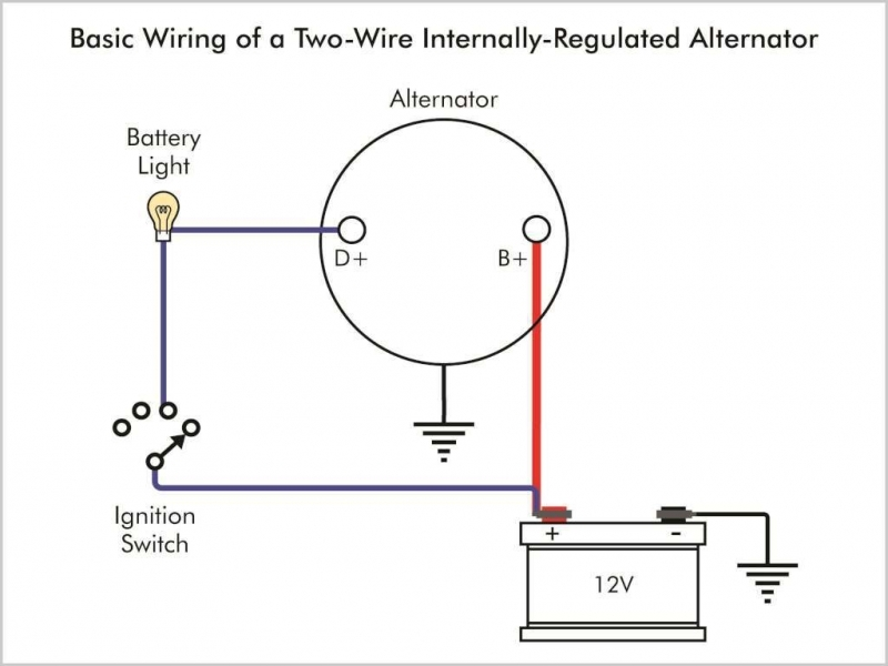 Denso one wire alternator wiring diagram