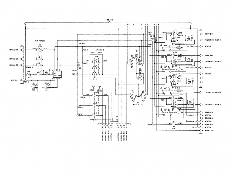 figure fo-6  power distribution panel  schematic wiring diagram