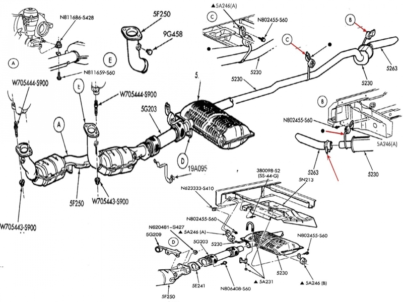 2000 ford windstar exhaust diagram