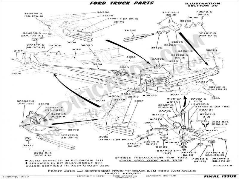 Ford Truck Technical Drawings And Schematics - Section A - Front