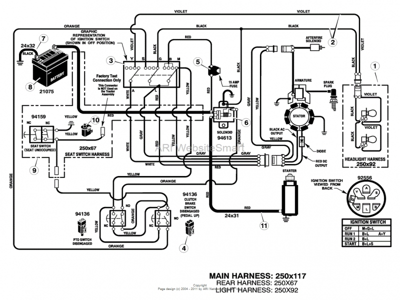 mtd yard machine riding mower wiring diagram