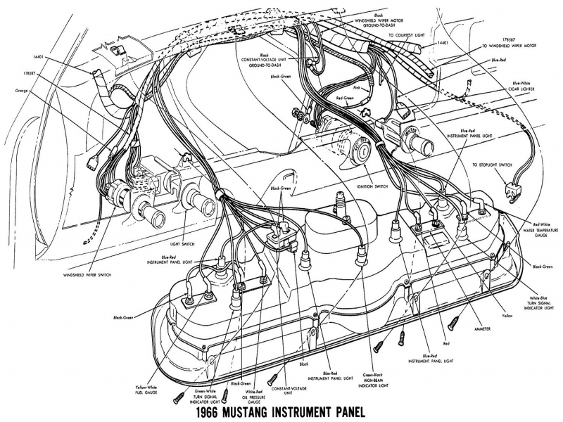 1966 Mustang Alternator Wiring Diagram Lelu 39s 66