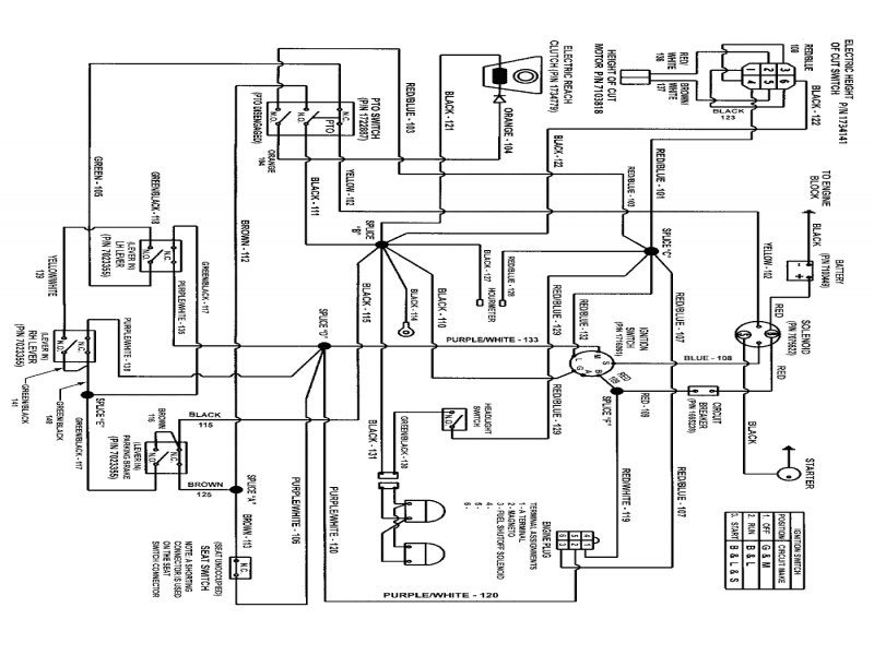 murray lawn tractor wiring schematic diagram and beautiful