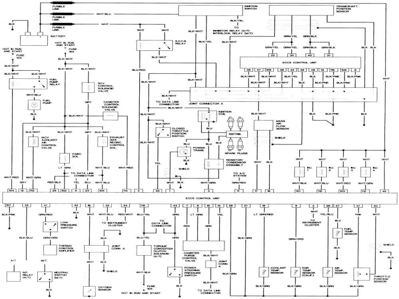 1995 Nissan Maxima Fuse Box Schematic : Nissan truck starter wiring diagrams forums
