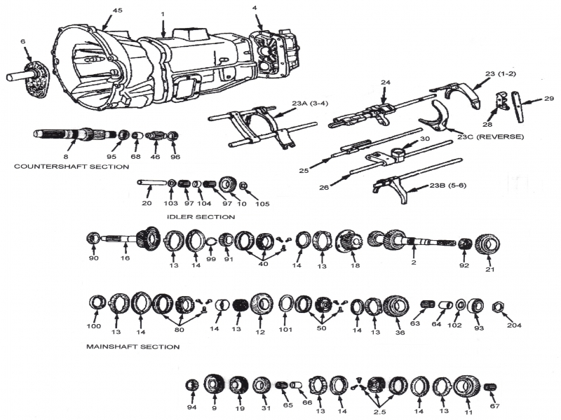 nv5600 transmission parts diagram