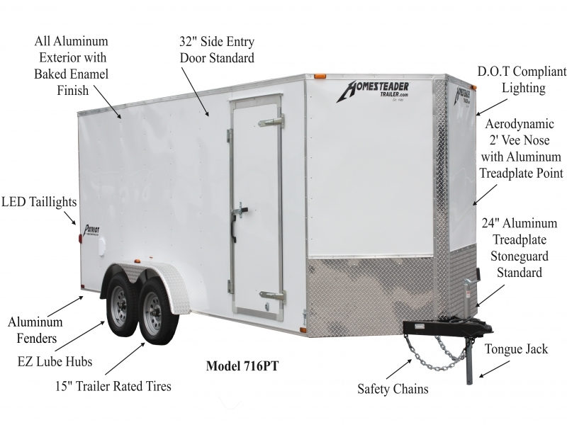 Wiring Diagram For Wilson Cattle Trailer : Patriot enclosed trailers homesteader wiring