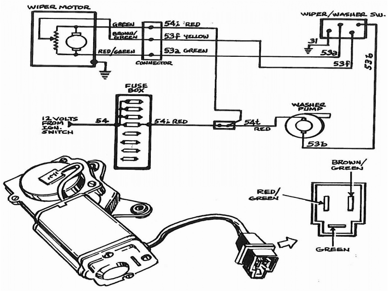 1972 c3 corvette windshield wiper diagram