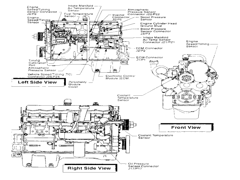 cat 3406e engine sensor diagram wiring images