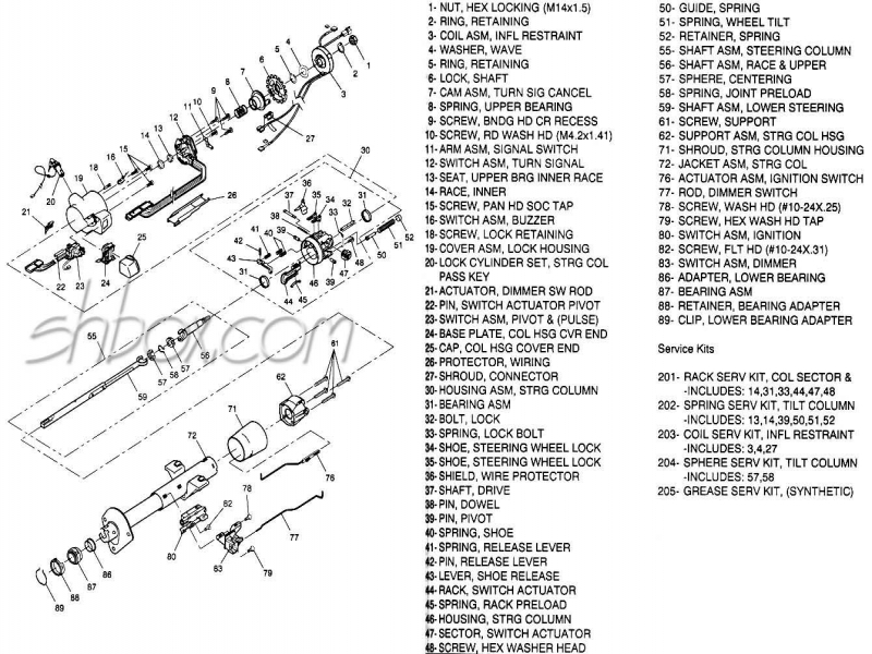 Solved  84 Mustang Steering Column Diagram Exploded View - Fixya