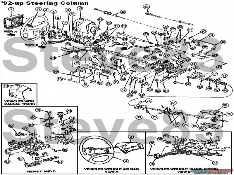 1997 Ford Explorer Steering Column Diagram