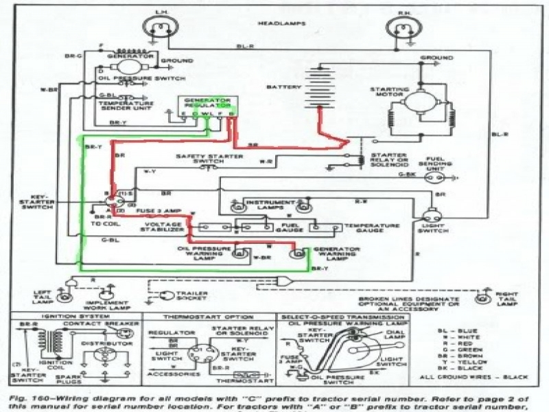ford 5000 tractor starter wiring diagram