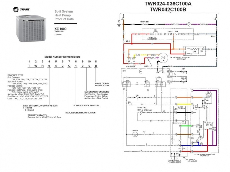 Trane Air Conditioner Wiring Diagram