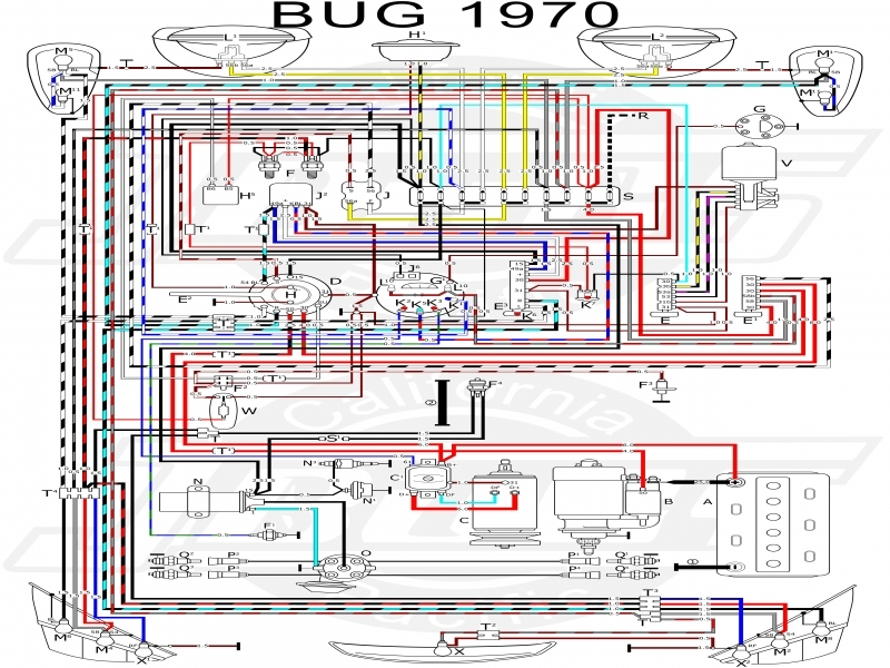 vw tech article 1970 wiring diagram wiring forums 1970 vw bus wiring diagram 1970 vw bus wiring diagram