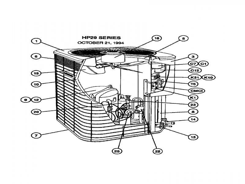 Lennox Air Conditioner Parts Diagram