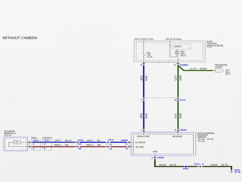 wiring diagram for auto dimming mirror wiring diagram for auto rh color castles com Homelink Wiring Diagram Bluetooth Wiring Diagram