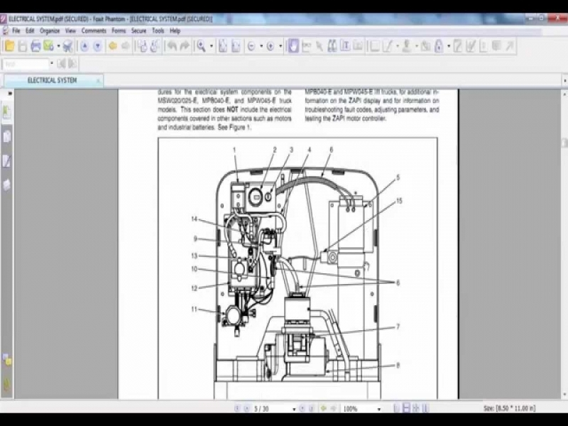 yale electric for mpb040 e b827 mpw045 e b802 service Nissan Electric Forklift Wiring Diagrams yale electric for mpb040 e b827 mpw045 e b802 service maintenance