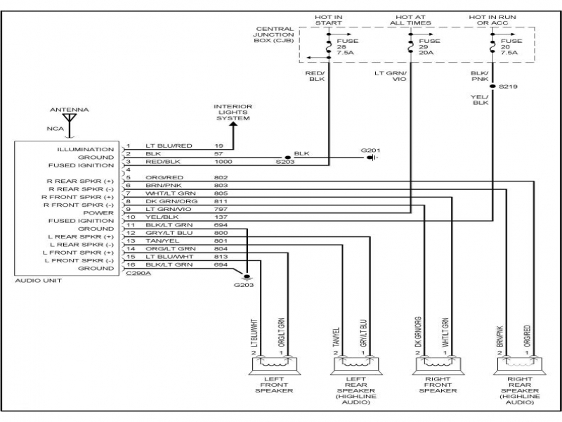 92 Ford Ranger Radio Wiring Diagram