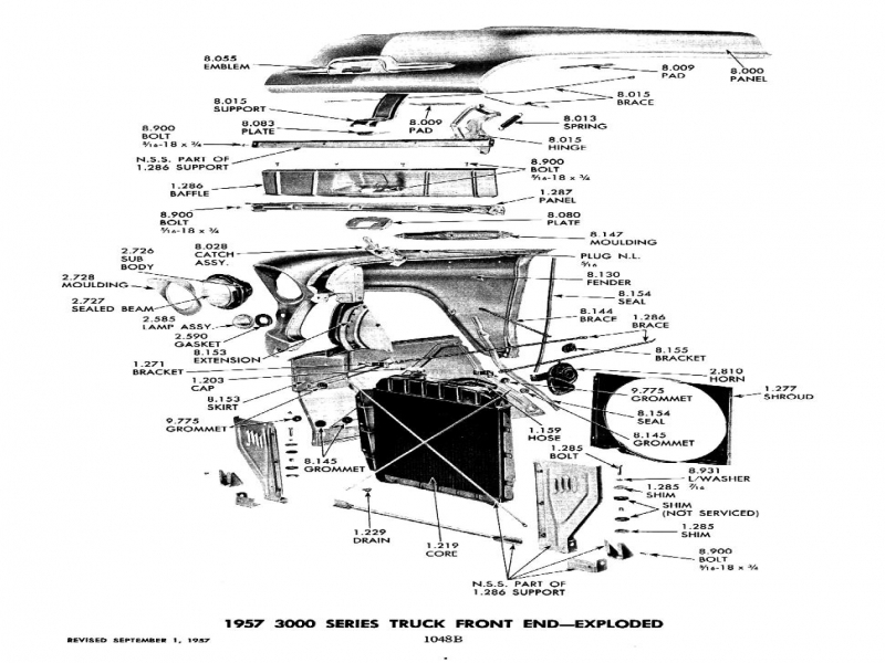 2nd series  55-56  front end sheet metal