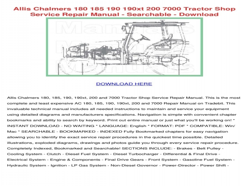 allis-chalmers-180-185-190-190xt-200-7000-trageorgeellington  Allis Chalmers Wiring Schematic on harness for wd,